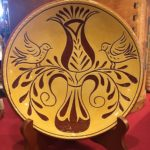 sgraffito plate by Denise Wilz