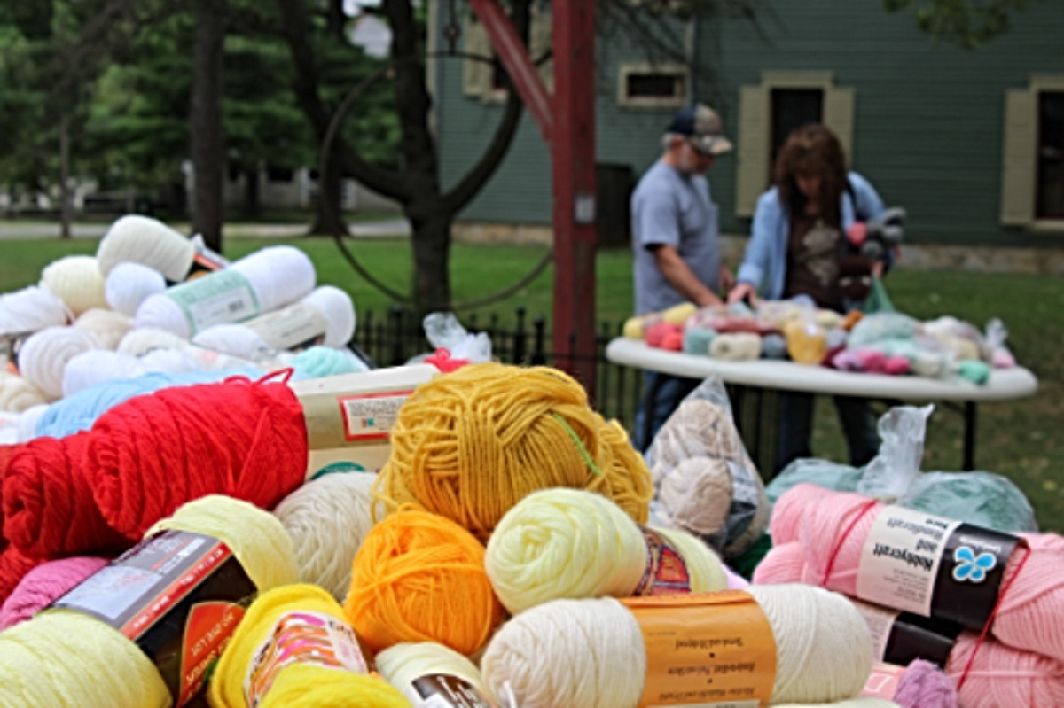 yarn sale at Wool Frolic