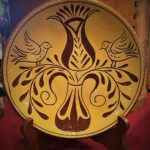 sgraffito decorated plate by Denise Wilz