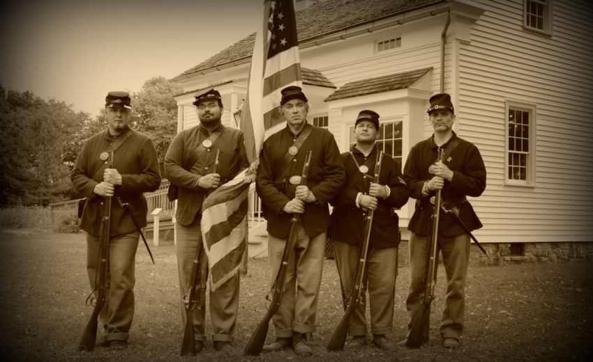Soldiers in front of Sexton's House